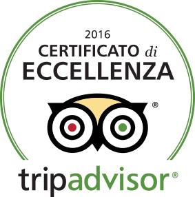 Certificato di Eccellenza 2016!